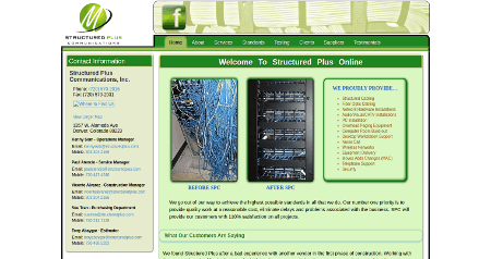Structured Plus Communications 2015 Website Desktop