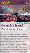Party Time Rental 2016 Website Mobile