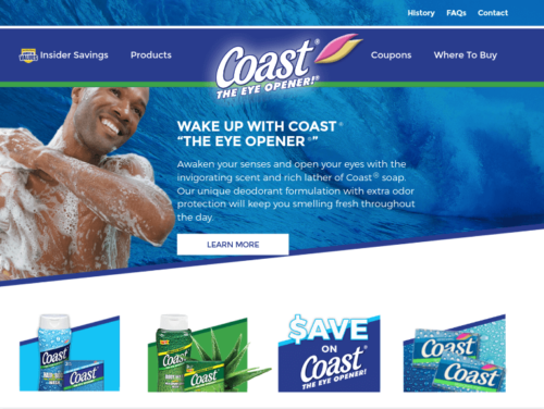 Coast Soap Website Tablet Landscape