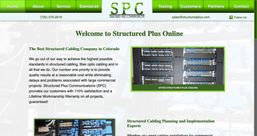 Structured Plus Communications 2016 Website Desktop
