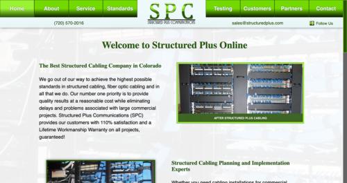 Structured Plus Communications 2016 Website Desktop