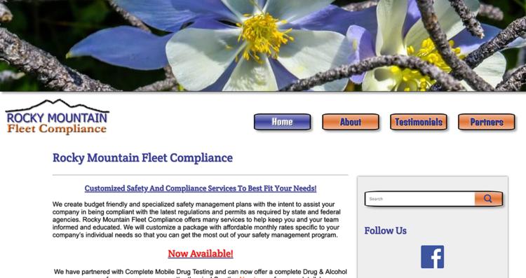 Rocky Mountain Fleet Compliance Website Desktop