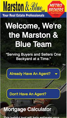Marston & Blue Real Estate Website Mobile