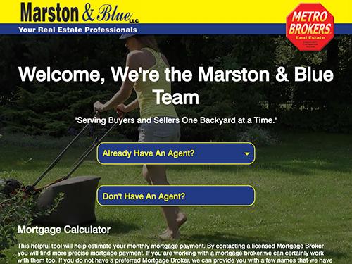 Marston & Blue Real Estate Website Tablet Landscape