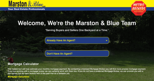 Marston & Blue Real Estate Website Desktop