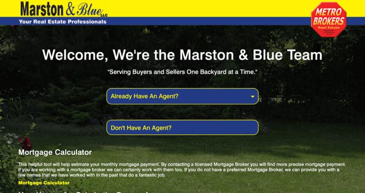 Marston & Blue Real Estate Website Desktop