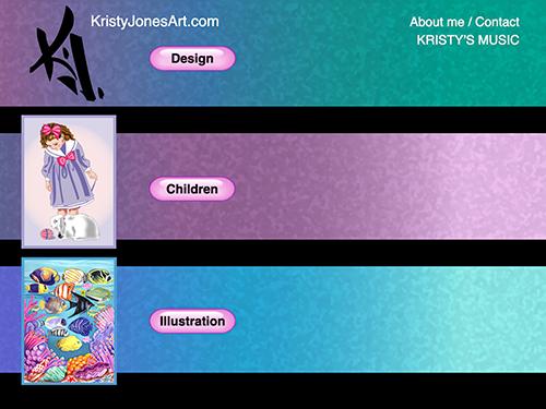Kristy Jones Art Website Tablet Landscape