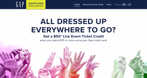 GapCard Promotion Microsite Desktop