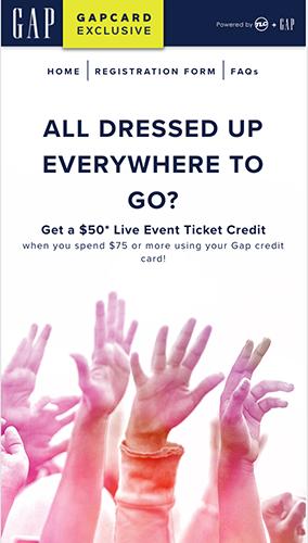 GapCard Promotion Microsite Mobile