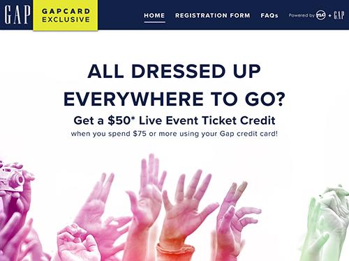 GapCard Promotion Microsite Tablet Landscape