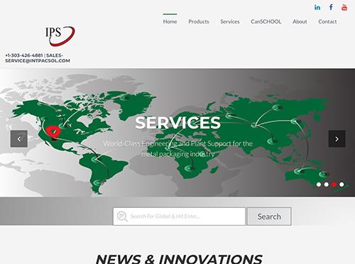 Integrated Packaging Services Website Tablet Landscape