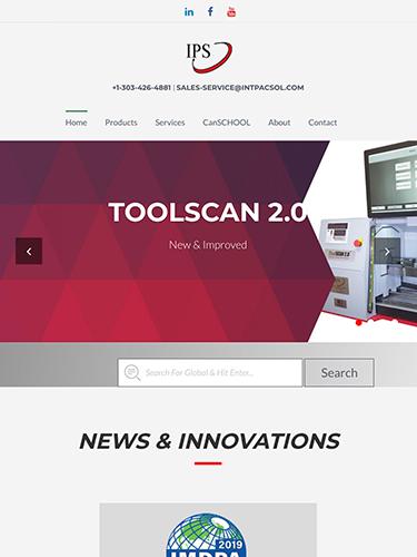 Integrated Packaging Services Website Tablet Portrait