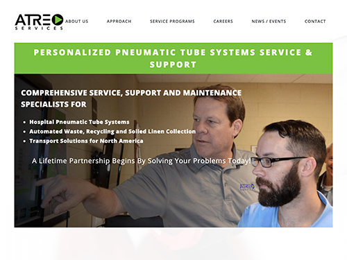 Atreo Services Website Tablet Landscape