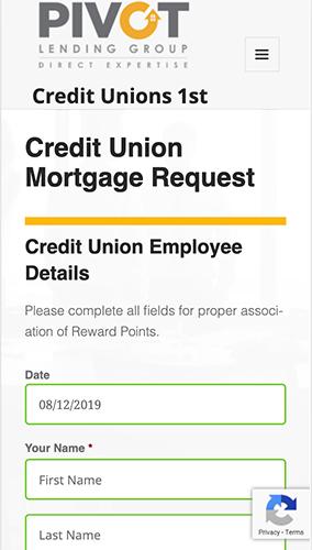 Credit Unions 1st Microsite Mobile