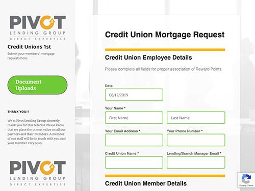 Credit Unions 1st Microsite Tablet Landscape