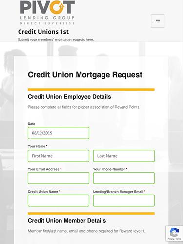 Credit Unions 1st Microsite Tablet Portrait