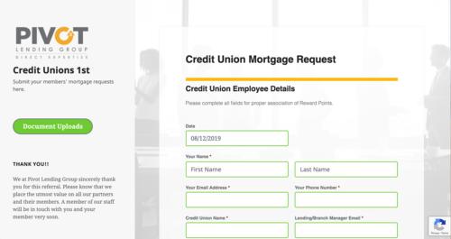Credit Unions 1st Microsite Desktop