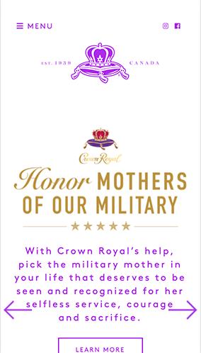 Crown Royal Website Mobile