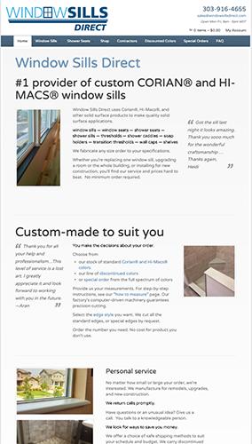 Window Sills Direct Website Mobile