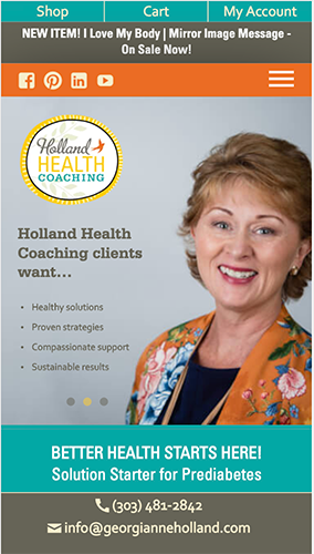 Holland Health Coaching Website Mobile