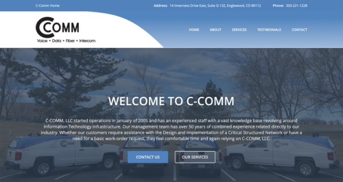 C-Comm Website Desktop