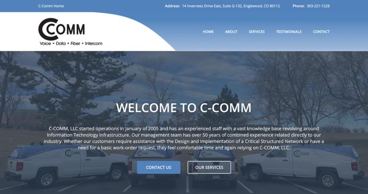 C-Comm Website Desktop