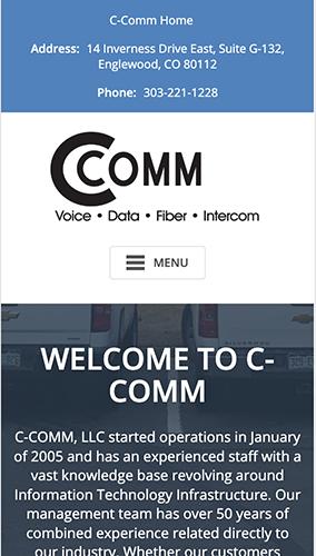 C-Comm Website Mobile