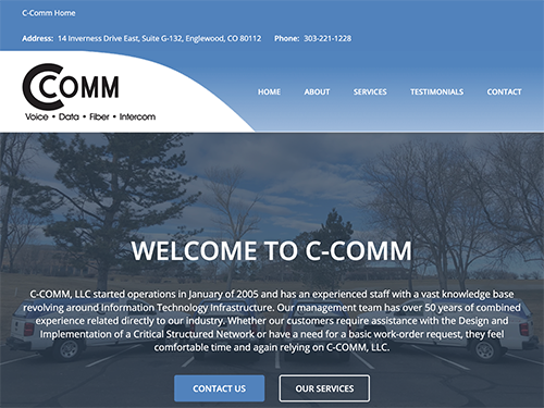 C-Comm Website Tablet Landscape