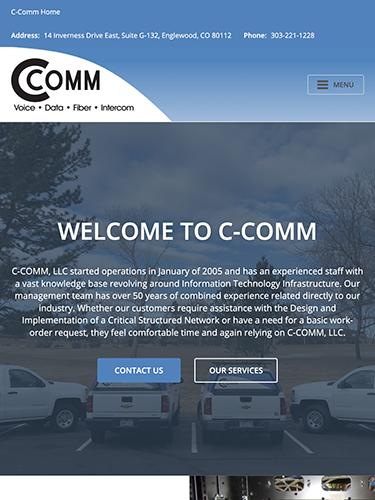 C-Comm Website Tablet Portrait