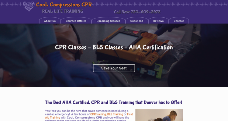 Cool Compressions CPR Website Desktop