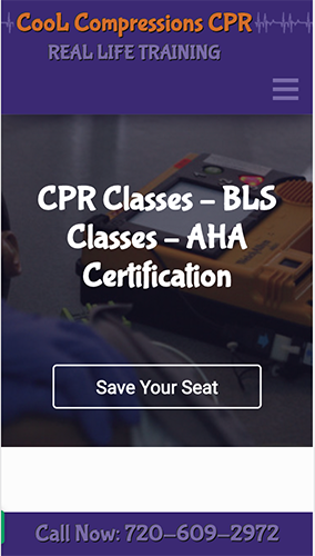 Cool Compressions CPR Website Mobile