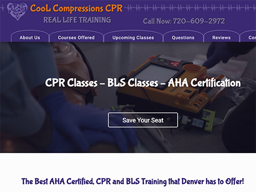 Cool Compressions CPR Website Tablet Landscape