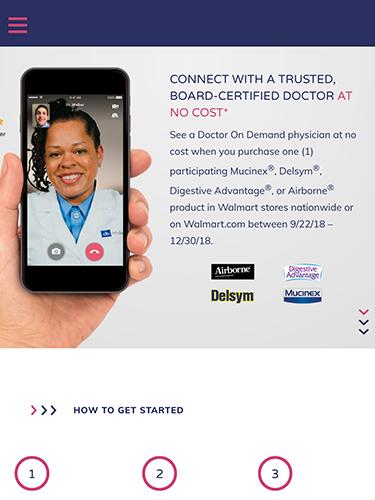 Reckitt Benckiser Promotion Microsite Tablet Portrait