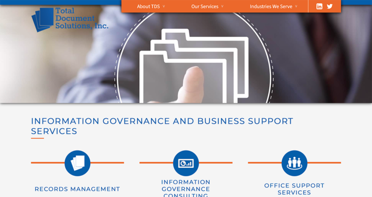 Total Document Solutions Website Desktop
