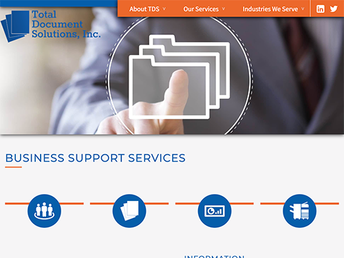 Total Document Solutions Website Tablet Landscape