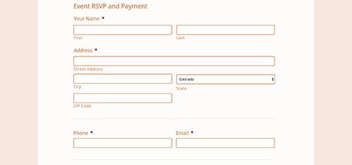 Kavod Senior Life Event RSVP Form