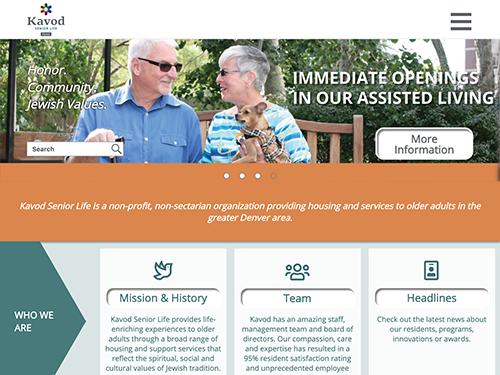 Kavod Senior Life Website Tablet Landscape