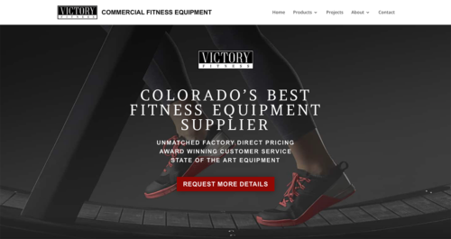 Victory Fitness Website Desktop