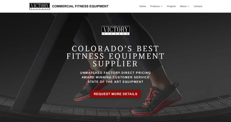 Victory Fitness Website Desktop