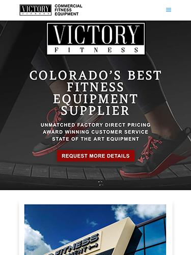 Victory Fitness Website Tablet Portrait