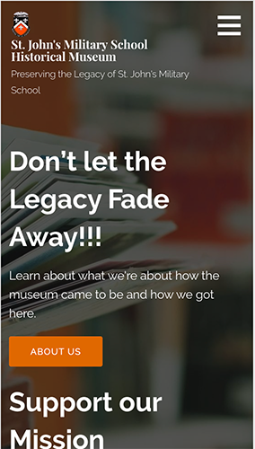 SJMS Museum Website Mobile