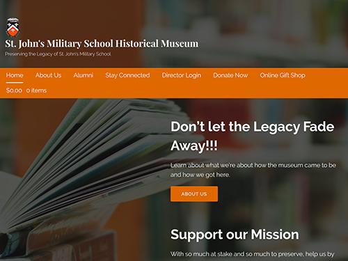 SJMS Museum Website Tablet Landscape
