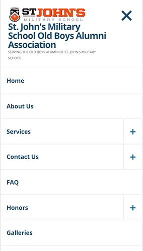SJMS OBA Website Mobile Menu