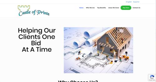 Castle of Prints Website Desktop