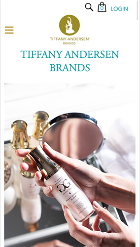 Tiffany Andersen Brands Website Mobile