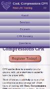 Cool Compressions CPR Website Mobile Menu