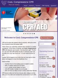 Cool Compressions CPR Website Tablet Portrait