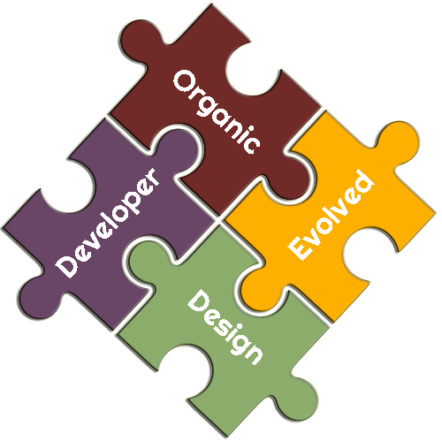 Developer Organic and Evolved Design Puzzle Pieces