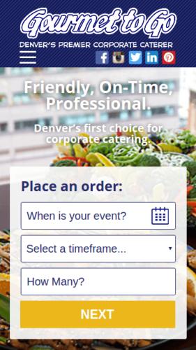 Gourmet To Go Website Mobile