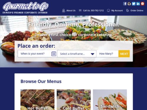 Gourmet To Go Website Tablet Landscape